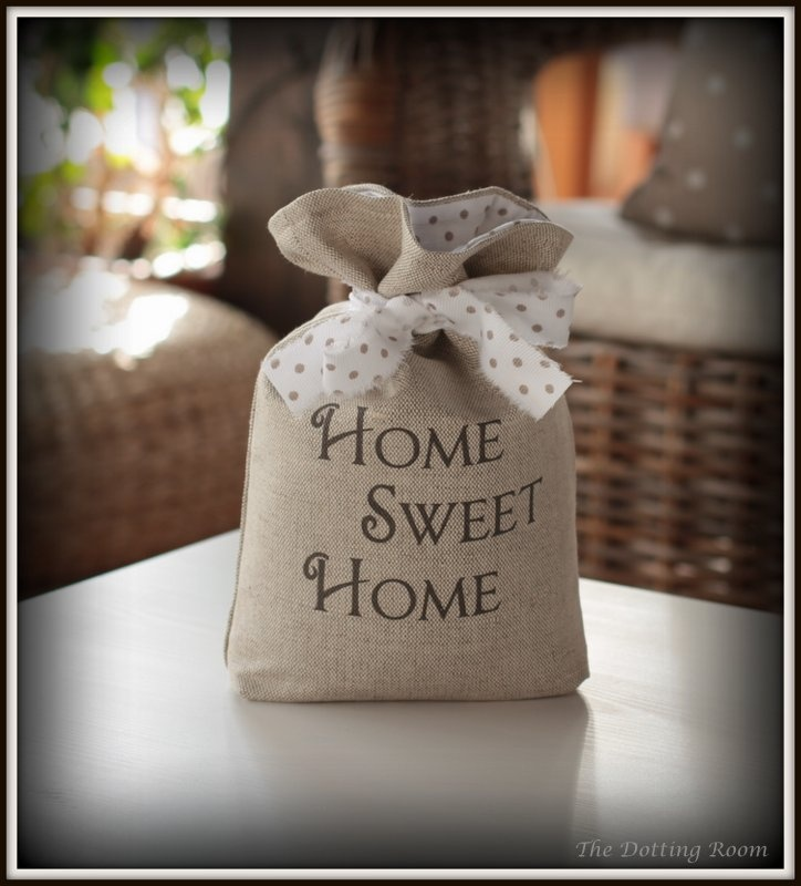 Decorative sack style doorstop beautifully handmade and designed by The Dotting Room