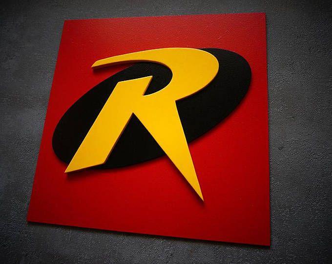 Versand 50 % Rabatt, Superheld Robin, Wandkunst, Kinder-Schlafzimmer-Wand-Kunst