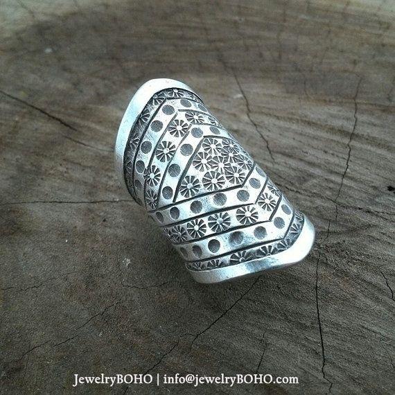 BOHO, Gypsy ring, Hippie ring, Bohemian style, Statement ring R020 JewelryBOHO-Handmade sterling silver BOHO Tribal ring