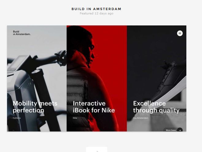 In a word, just Cool. It's like... street-style in a website. Very into the color scheme and the way the images hint at the what the text suggests