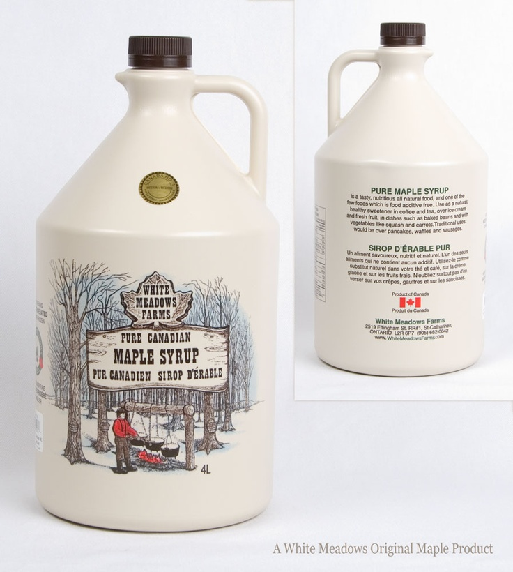 4L Plastic bottle - Medium Grade #maple syrup. $74 CDN   Also available in Light, Amber and Dark