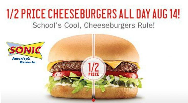 Sonic: 02.01 Precio hamburguesas todo el día!
