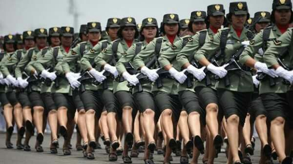 Indonesian military women