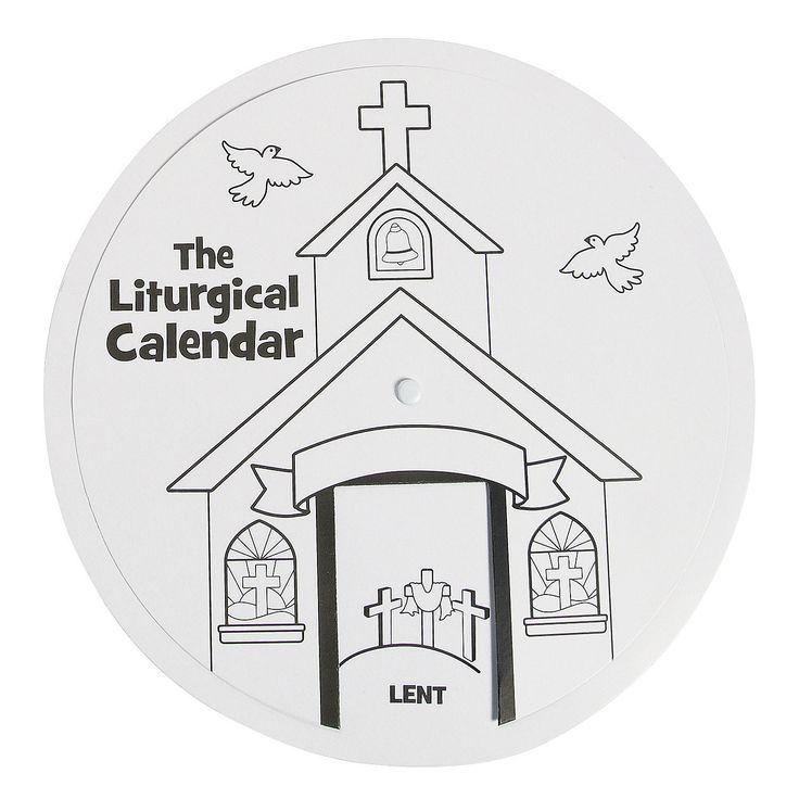 Blank Liturgical Calendar : Catholic liturgical calendar coloring page book