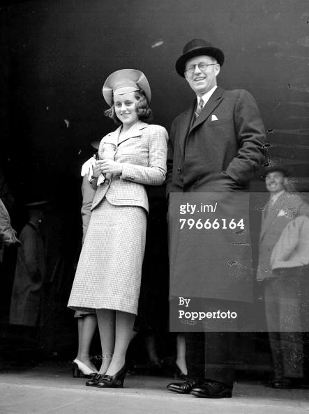 June 10, 1938 - Joseph Kennedy with his daughter Kathleen at Wimbledon Tennis Championships. ✾❤✾❤❁❤❃❤❁❤❁❤❁❤❁❤✾ http://en.wikipedia.org/wiki/Joseph_P._Kennedy,_Sr. http://en.wikipedia.org/wiki/Kathleen_Cavendish,_Marchioness_of_Hartington