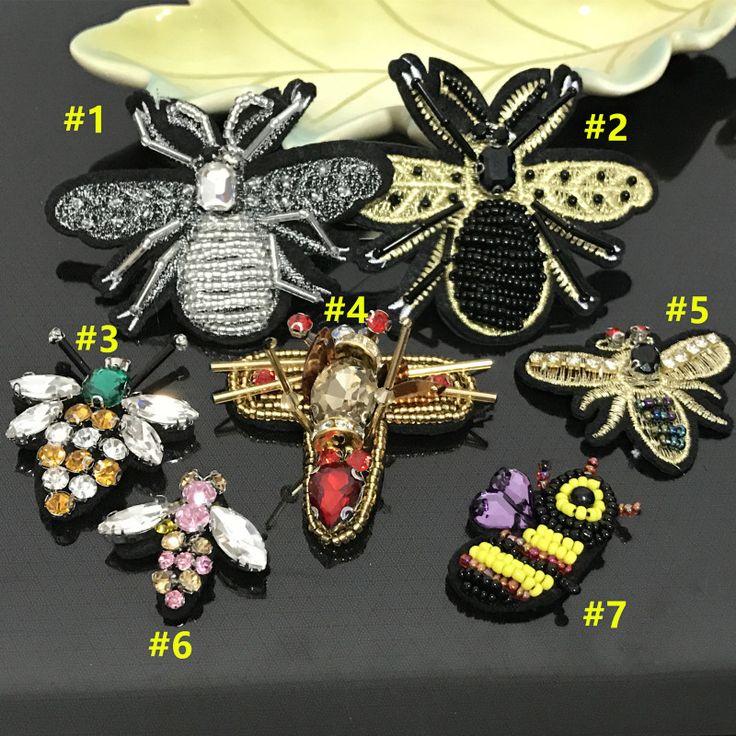 5 unids/lote Abeja Con Cuentas collar de la ropa zapatos bolsas de Parche decoración apliques de coser parche Ropa BRICOLAJE en Parches de Hogar y Jardín en AliExpress.com | Alibaba Group
