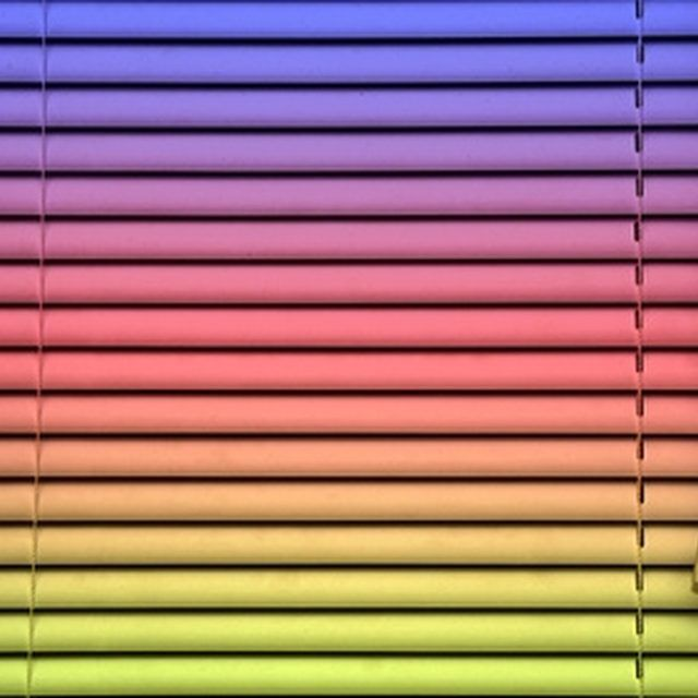Paint your vinyl mini blinds to bring them back to life.