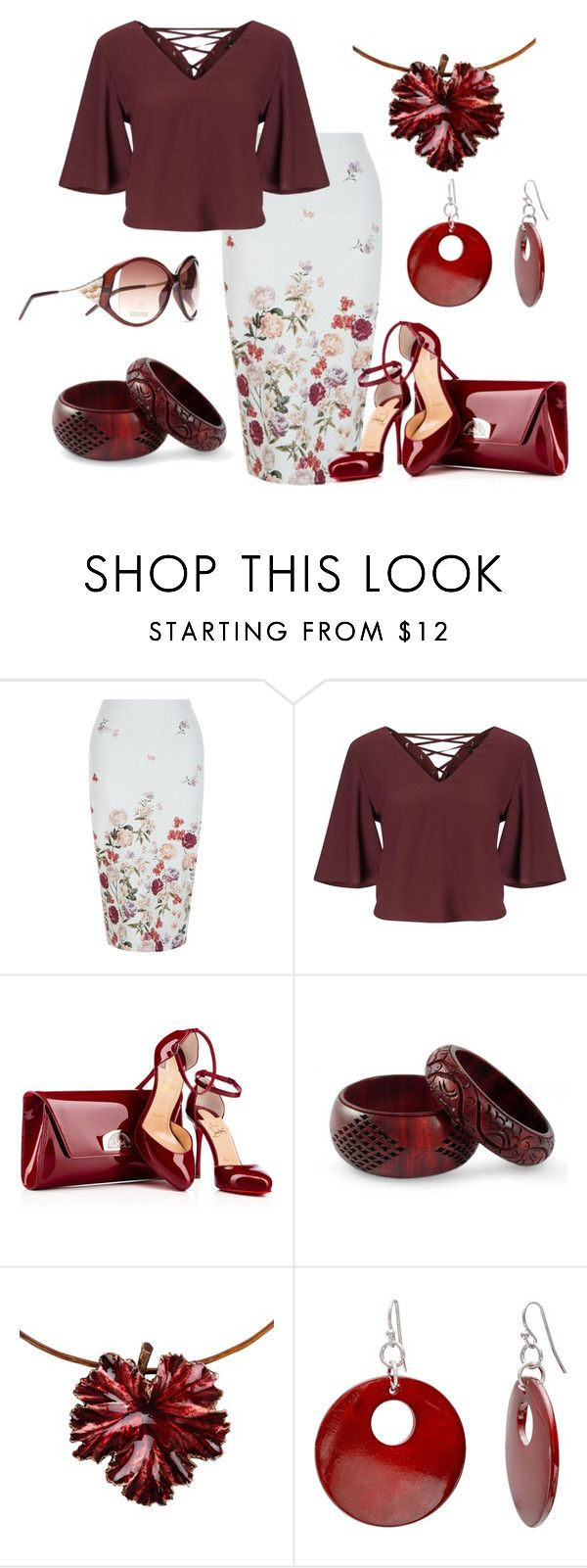 """""""Please Pass Me Some Wine"""" by lucypumkinjack-1 ❤ liked on Polyvore featuring New Look, Miss Selfridge, NOVICA, Madina Visconti di Modrone and Mixit"""