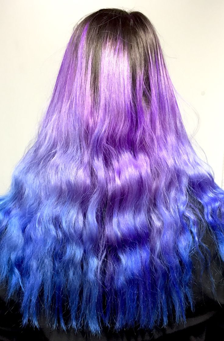 La Riche Directions Violet and Lagoon Blue mixed with conditioner