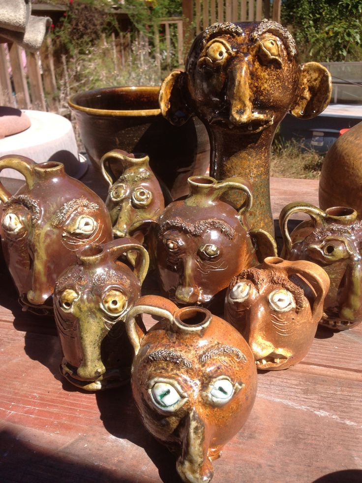 Jug group shot right out of the kiln #lowellwebb