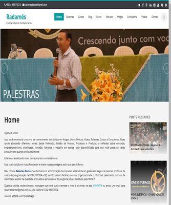 Radamés Dantas: Estou com novo site...conheça.