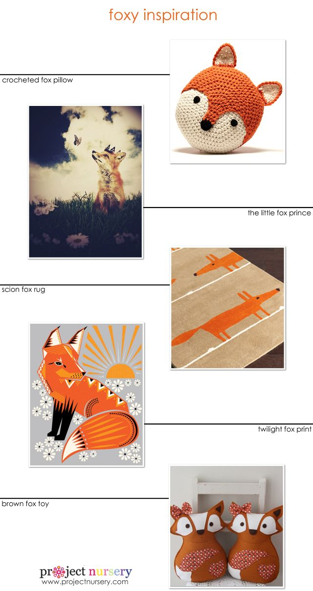 #Fox Accents for the #Nursery or Kids Room! #nurserydecor