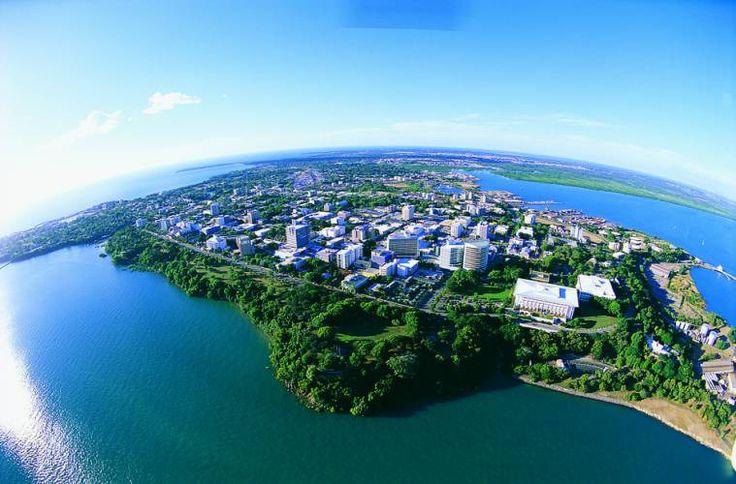 Aerial view across the city of Darwin, NT, Australia. #DarwinNT