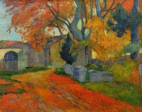 Paul Gauguin, Les Alyscamps in Arles on ArtStack #paul-gauguin #art