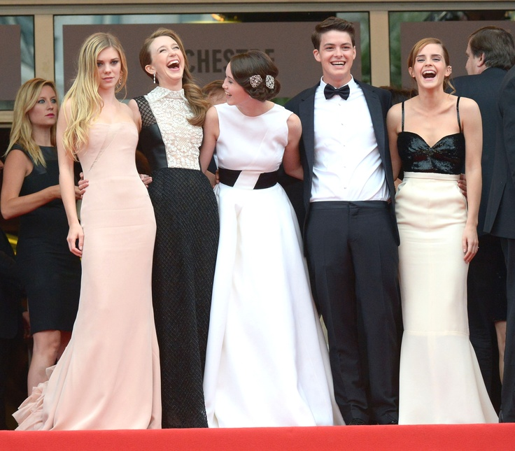 Actors Claire Julien, Taissa Fariga, Katie Chang, Israel Broussard and Emma Watson. Electrolux at Cannes 2013