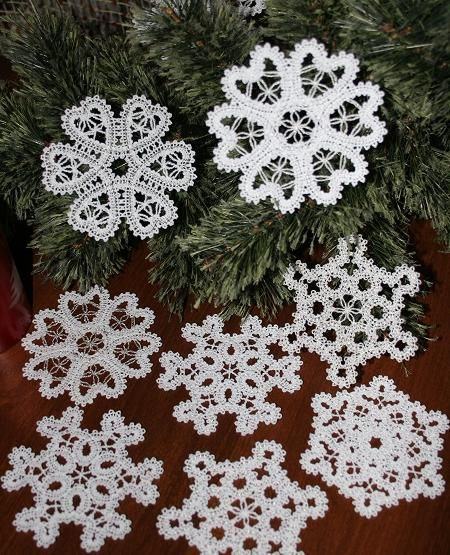 Advanced Embroidery Designs - FSL Battenberg Snowflake Set for Small Hoop