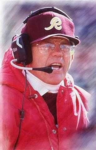 Joe Gibbs, one of the greatest to ever coach the Redskins AND the game.