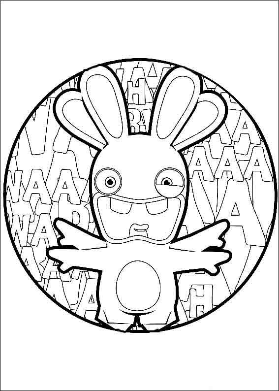 - Rabbids Invasion Coloring Pages 2 Coloring Books, Coloring Pages, Online  Coloring Pages