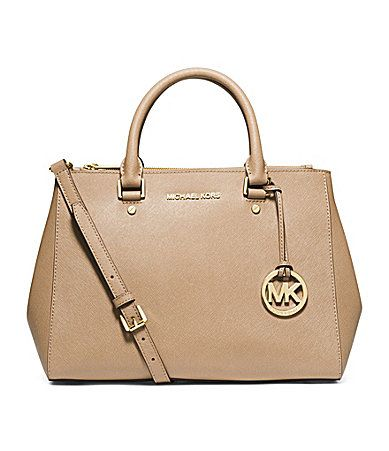 MICHAEL Michael Kors Sutton Medium Satchel Dark Khaki Dillards