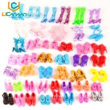 UCanaan 60 Pares de Sapatos Boneca Da Moda Sapatos Sandálias de Salto Alto para Barbie Dolls Outfit Vestido Melhor Presente para a Menina(China (Mainland))