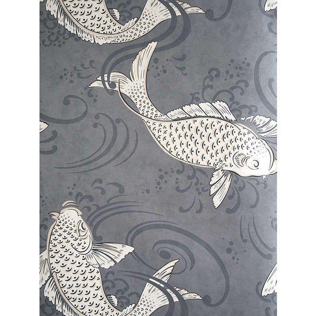 BuyOsborne & Little Derwent Wallpaper, Graphite, W5796-04 Online at johnlewis.com