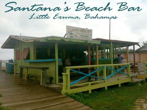 Santana's Beach Bar on Little Exuma in the Bahamas. Best Lobster in the Exumas!