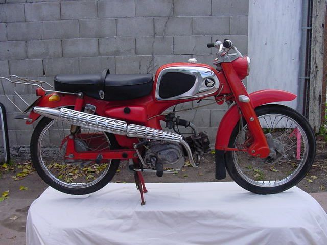 Moped Photo Gallery - 1964 Honda, Top Tank, Red