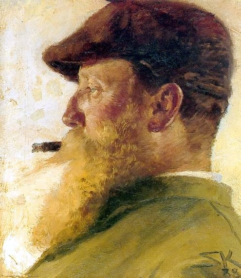 Krohg, Christian (1852-1925) - 1888 Self-Portrait (Private Collection) by RasMarley, via Flickr
