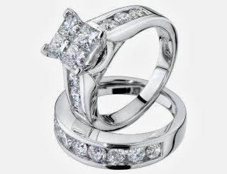 Princess Cut Diamond Engagement Ring and Wedding Band SetStore Diamond Engagement RingDiamond Engagement Ring