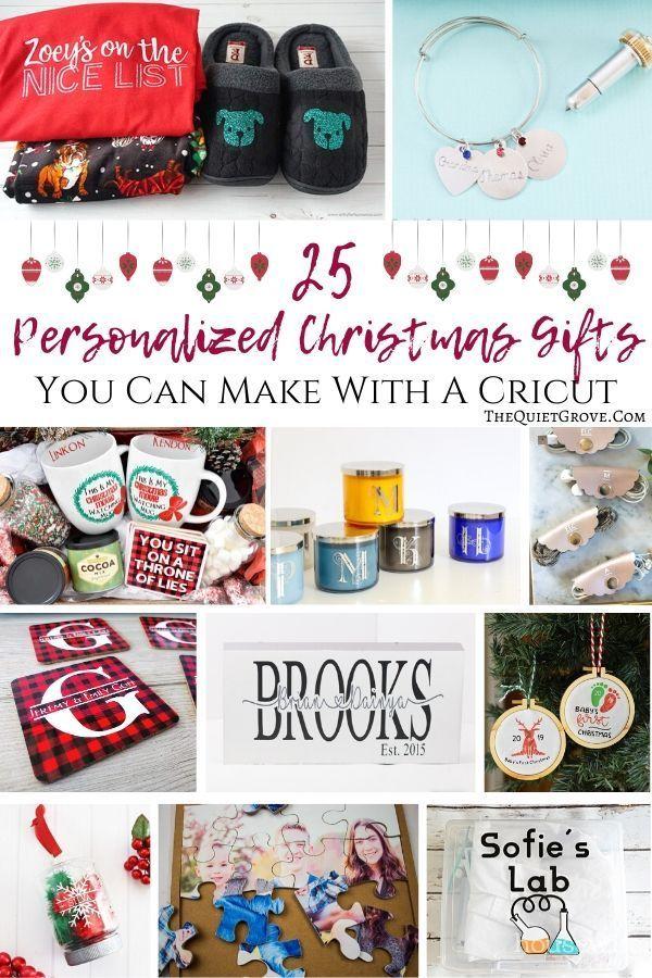 25 Cricut Christmas Projects You Need To Make Christmas Projects Diy Christmas Projects Personalized Christmas Gifts