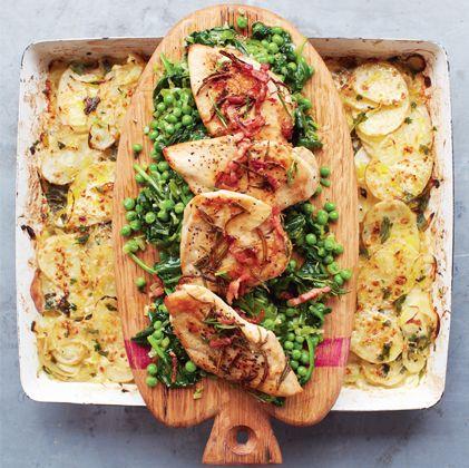 Bild für GOLDENES HÄHNCHEN Schmorgemüse & Kartoffelgratin