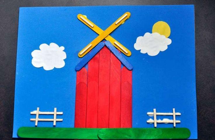 Lavoretti con il legno per bambini - Collage colorato