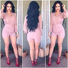new vintage fashion sexy Autumn shorts top ladies bodysuit Rompers Womens Jumpsuits Playsuit