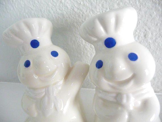 Vintage Pillsbury Dough Boy Salt and Pepper Shakers