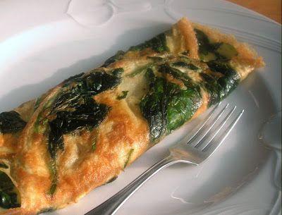 Herkkusuun lautasella-Ruokablogi: Pinaattiomeletti aamiaiseksi