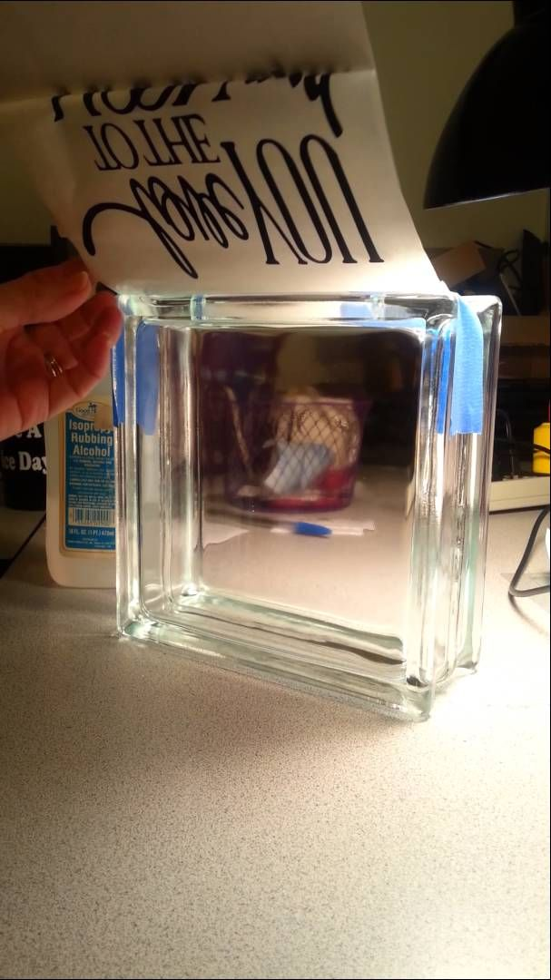 Silhouette Cameo How to Put Vinyl on Glass Blocks