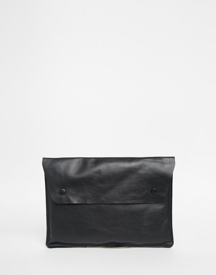 VIDA Leather Statement Clutch - dill in bloom by VIDA XKtQBBmU