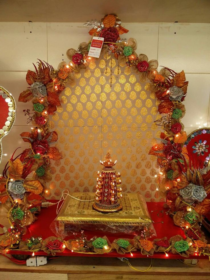 263 best images about decoration for pooja on pinterest for Decoration ganpati