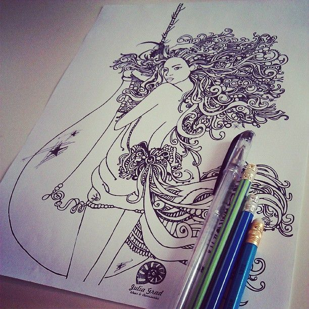Special for Bulb company #bulb #girl #draw #tatoo #style