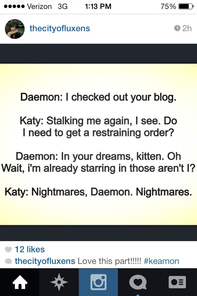 I love the conversations between Daemon and Katy in the Lux series!