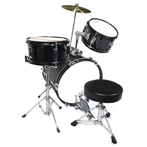 Mendini MJDS-3-BK 16-inch 3-Piece Black Junior Drum Set with Cymbals, Drumsticks and Adjustable Throne  http://www.instrumentssale.com/mendini-mjds-3-bk-16-inch-3-piece-black-junior-drum-set-with-cymbals-drumsticks-and-adjustable-throne/