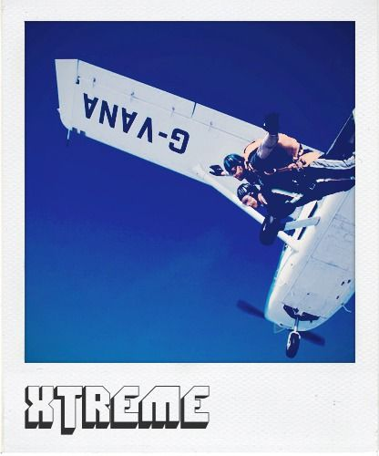 X is for xteme, because #myinterfloramum once did a skydive for charity!