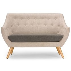 Baxton Studio  Astrid Mid-century Beige Fabric Loveseat Affordable modern furniture in Chicago, Classic Living Room Furniture, Modern Sofas & Loveseats, cheap Loveseats