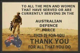 Thank You to our Australian Defence Force