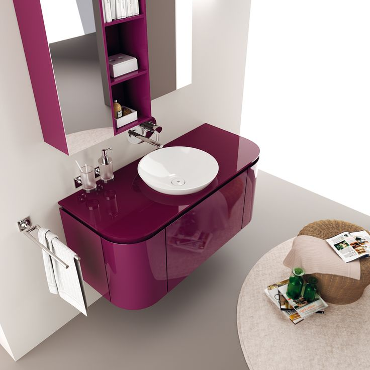 #kylpyhuone #scavolini #decorkylpyhuoneet #kylpyhuonekalusteet #sisustus  Rivo kylpyhuonekaluste ScavoliniEmotional space with new colours and #washbasins | Scavolini #Bathrooms |