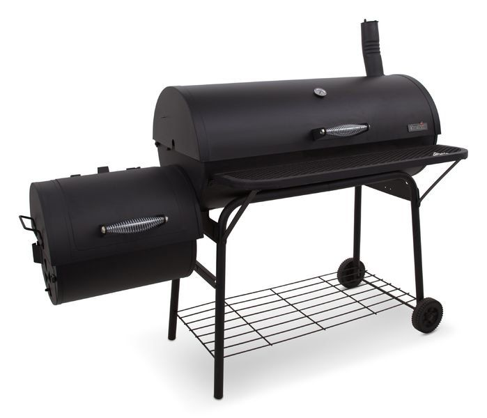 American Gourmet Deluxe Offset Charcoal Grill & Smoker