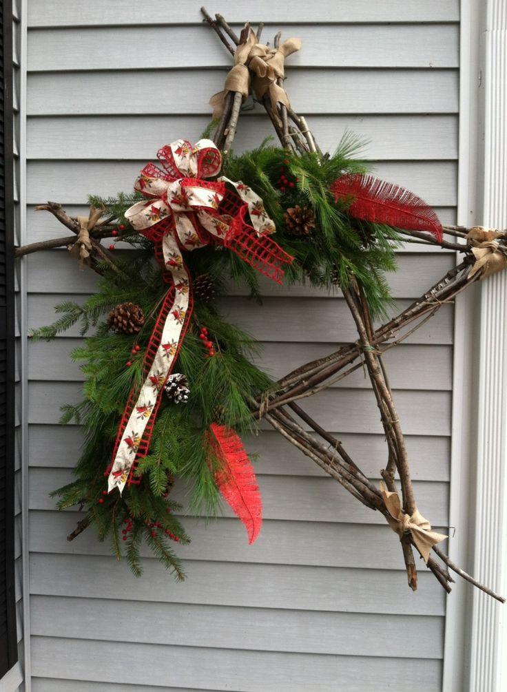 Branch star made from stuff in my yard!