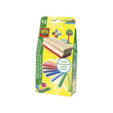 Krijtset met wisser  Gebruik je fantasie en maak de mooiste krijttekeningen. Deze set heeft 12 verschillende kleuren krijt om je creativiteit te laten spreken en tevens een handig wissertje!  EUR 3.99  Meer informatie