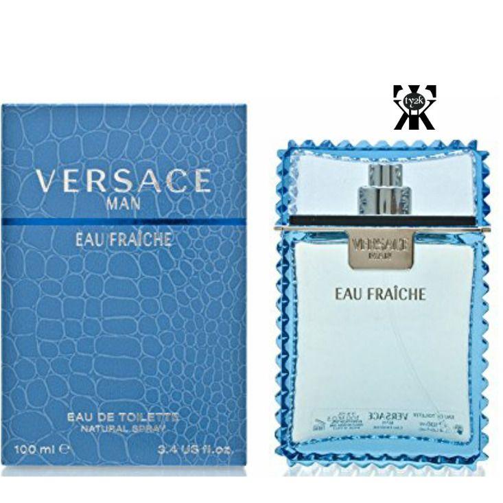 Versace Man by Versace Eau Fraiche Eau De Toilette Spray (Blue) 3.4 oz 100ml (M #Versace