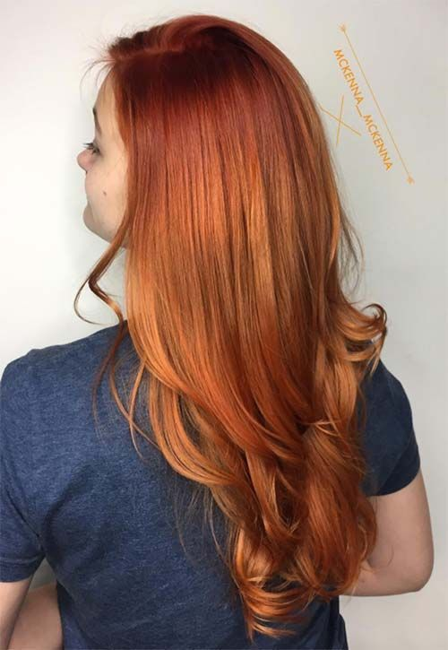 Copper Hair Color Ideas Redheads Pinterest